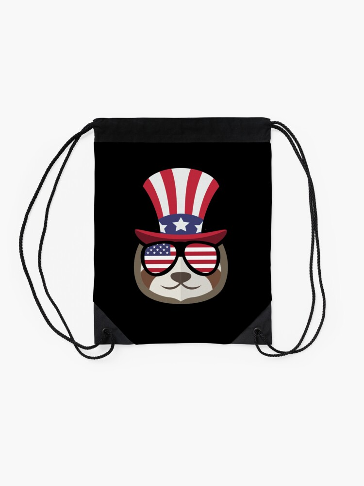Vista alternativa de Mochila saco Sloth Happy 4th Of July