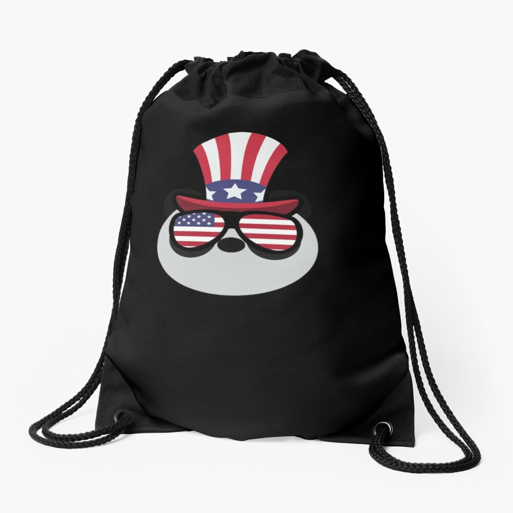 Panda Happy 4th Of July Mochila saco