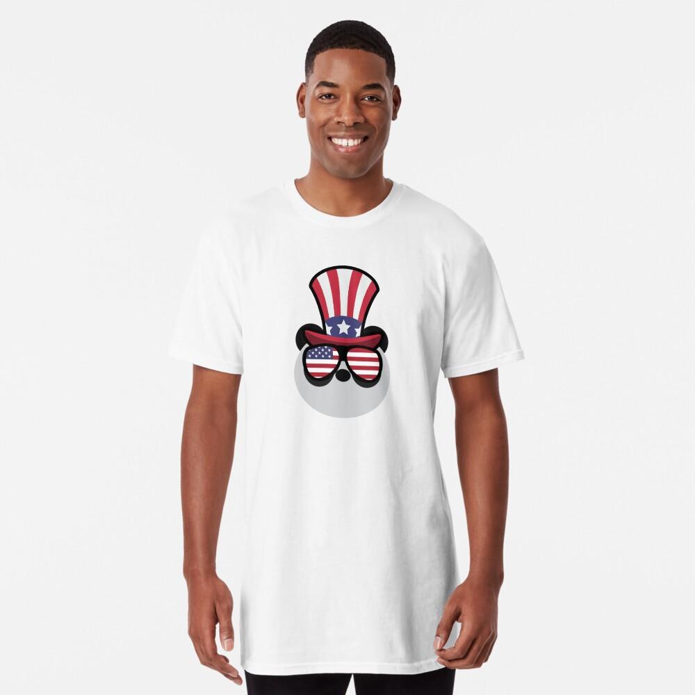 Panda Happy 4th Of July Camiseta larga