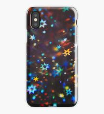 Holographic stars photographed through a prism iPhone Case