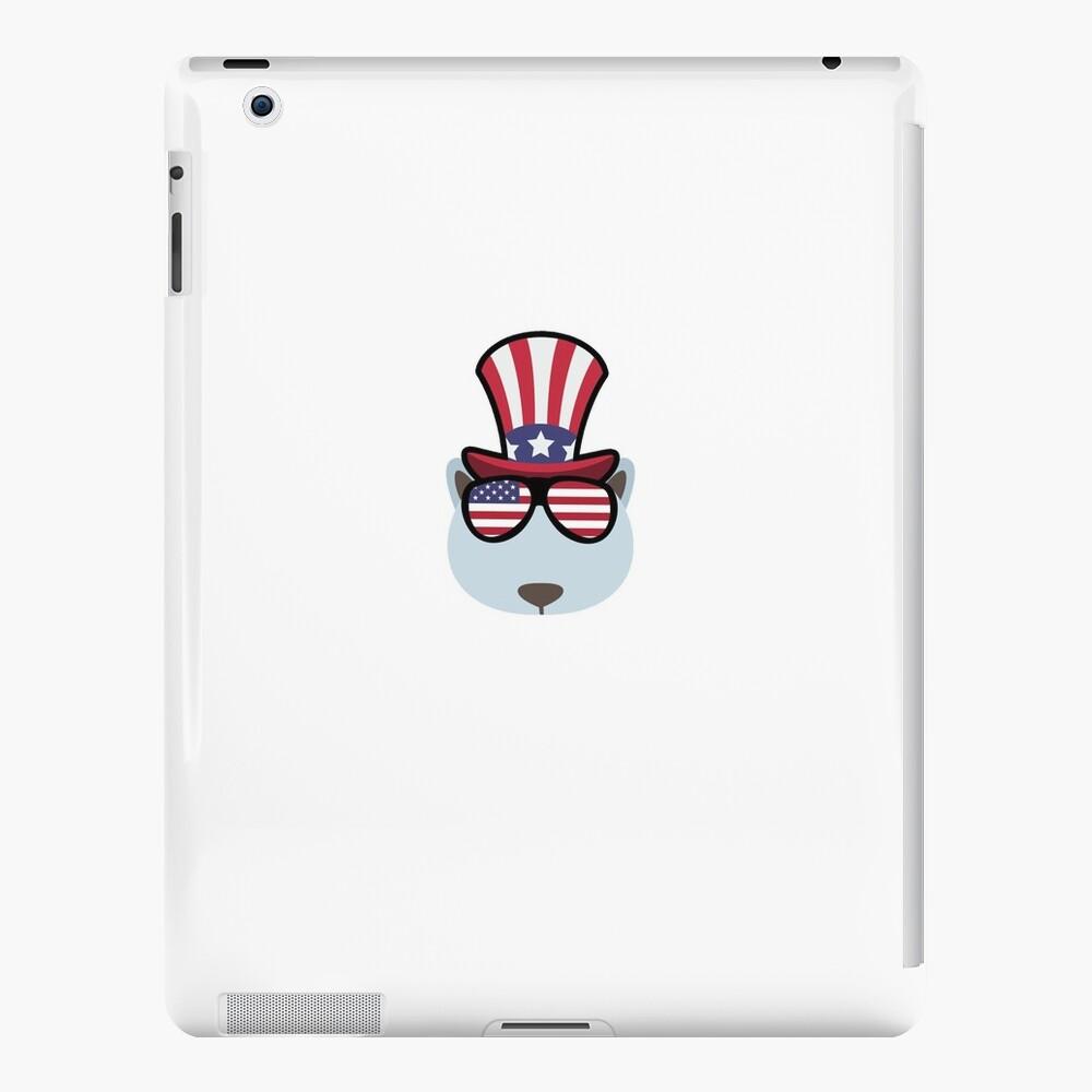 Polar Bear Happy 4th Of July iPad-Hüllen & Klebefolien