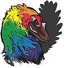 """Rainbow Unicorn"" Caihong Dinosaur by Muninn"