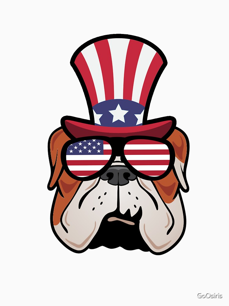 Bulldog Happy 4th Of July de GoOsiris