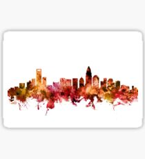 Charlotte North Carolina Skyline Sticker