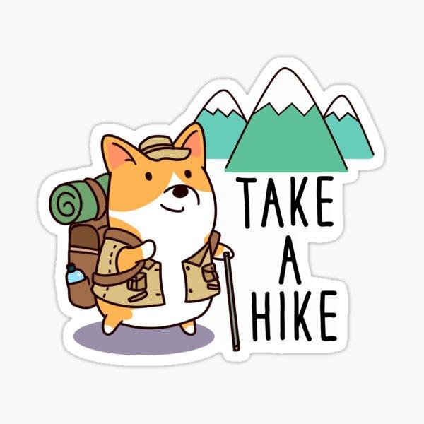 Take a hike Corgi Sticker