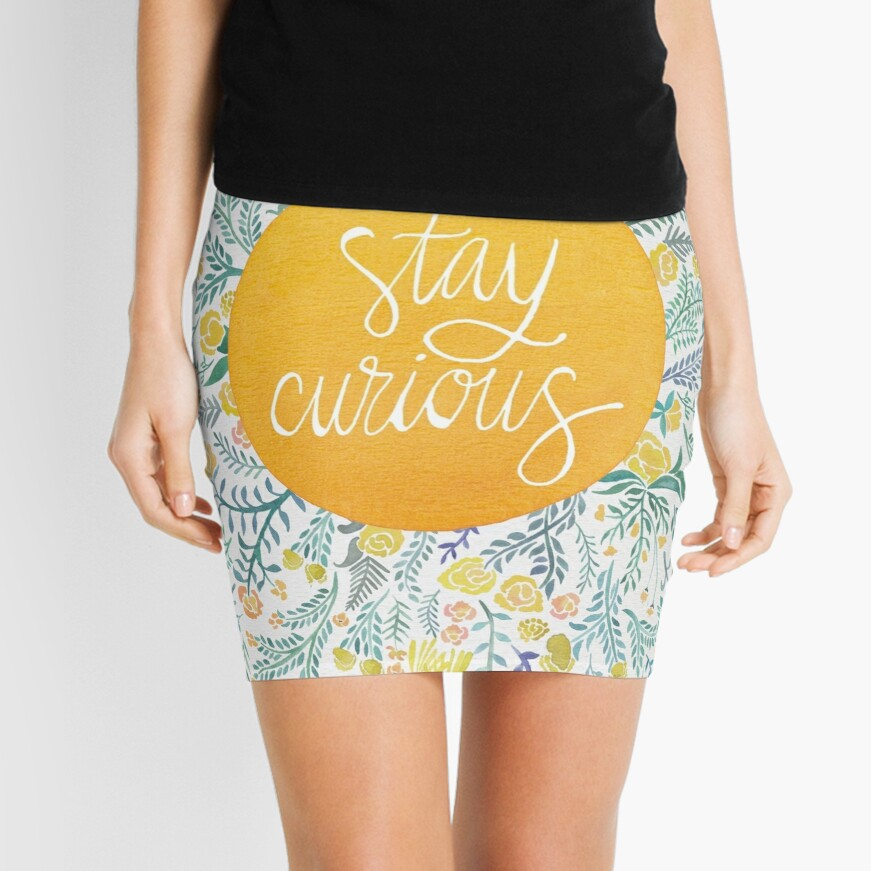 Stay Curious – Yellow & Green Mini Skirt