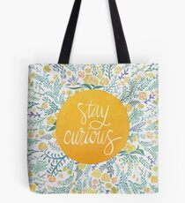 Stay Curious – Yellow & Green Tote Bag