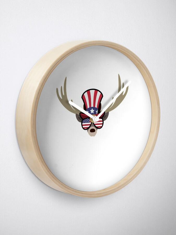 Vista alternativa de Reloj Deer Happy 4th Of July