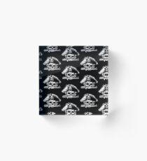 Pirates Adventure Mallorca Merchandise  Skull Black Pattern Acrylic Block
