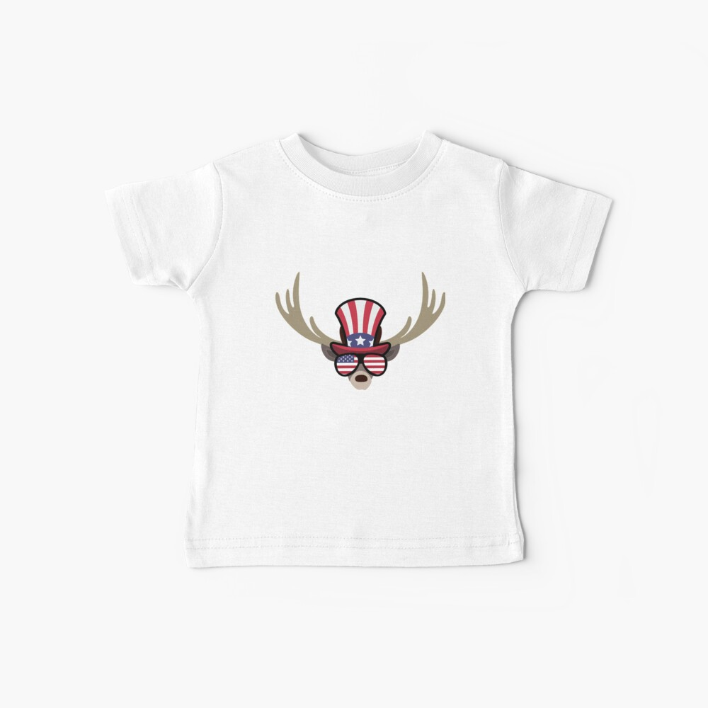 Deer Happy 4th Of July Camiseta para bebés