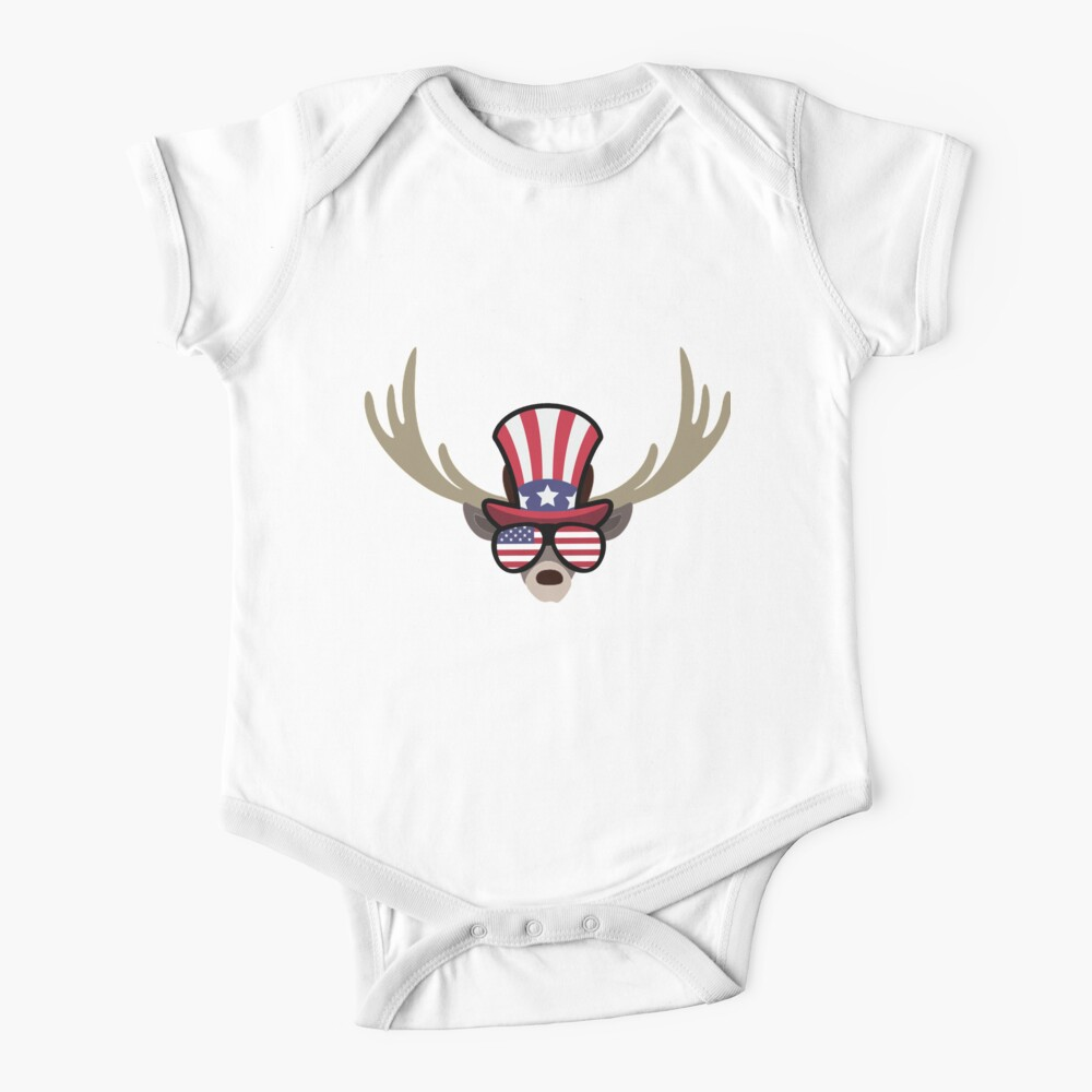 Deer Happy 4th Of July Body para bebé