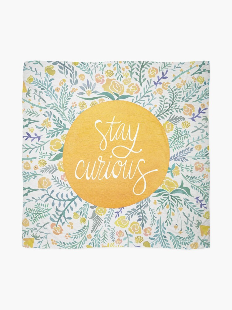 Alternate view of Stay Curious – Yellow & Green Scarf