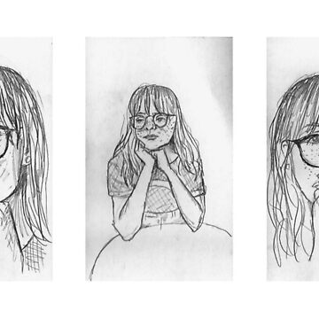 graphite drawings of a girl by yallre