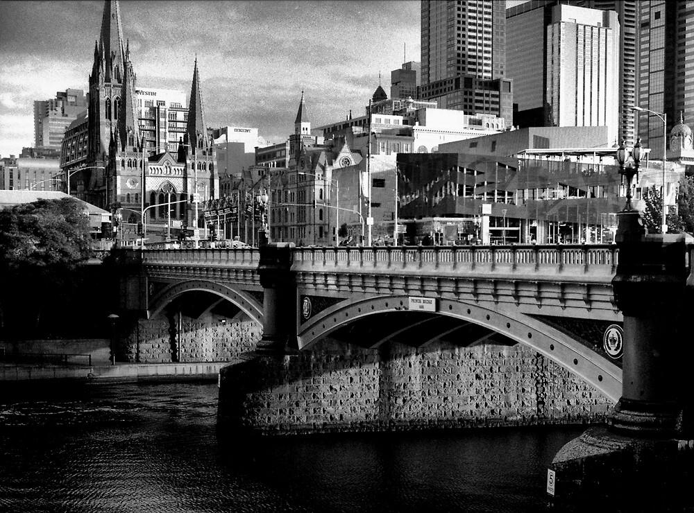 Princess Bridge Melbourne by Andrew  Makowiecki