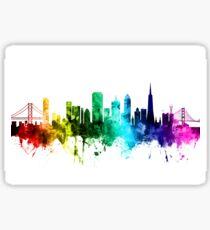 San Francisco California Skyline Sticker
