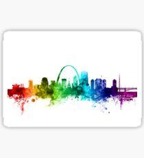 St Louis Missouri Skyline Sticker