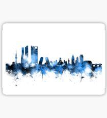 Madrid Spain Skyline Sticker