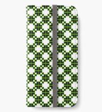 Abstraktes Blumenmuster iPhone Flip-Case/Hülle/Klebefolie