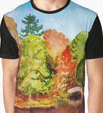 Autumn park landscape Graphic T-Shirt