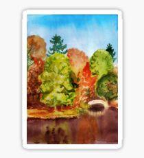 Autumn park landscape Sticker