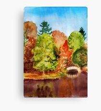 Autumn park landscape Canvas Print
