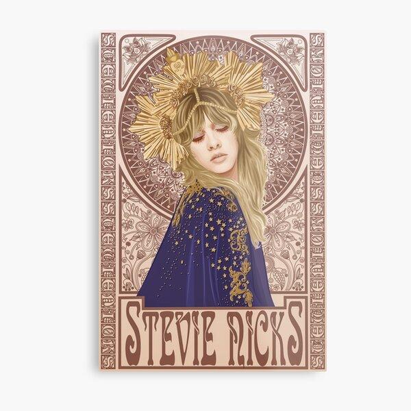 Stevie Nicks Illustration Metal Print