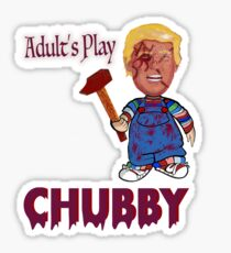 Funny Donald Trump Ft Chubby Sticker