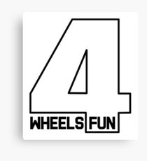 4Wheels 4Fun Canvas Print