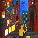 Octopus Monster Street Art Paper Art by Cynthia De La Torre
