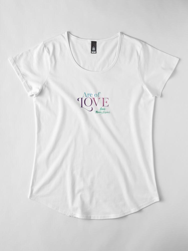 Alternate view of Arc of Love Premium Scoop T-Shirt
