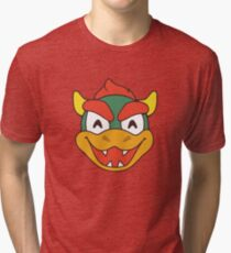 Smiley Bowser Tri-blend T-Shirt