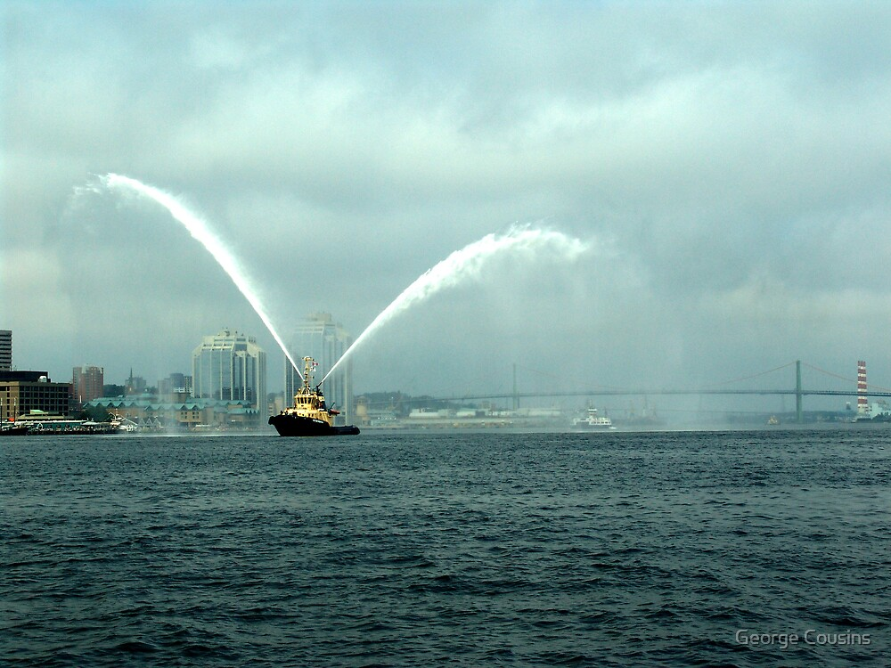 Fireboat-Halifax by George Cousins