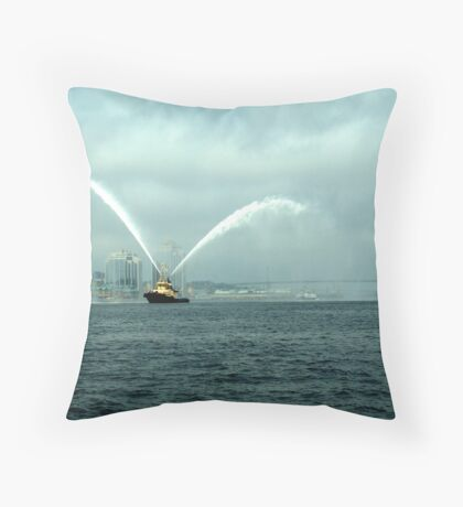 Fireboat-Halifax Throw Pillow