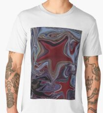 """Blood Stars"", Abstract Digital Painting Men's Premium T-Shirt"