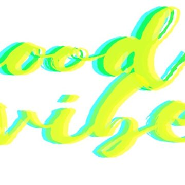 Good Vibes Neon Yellow Sticker by Claireandrewss