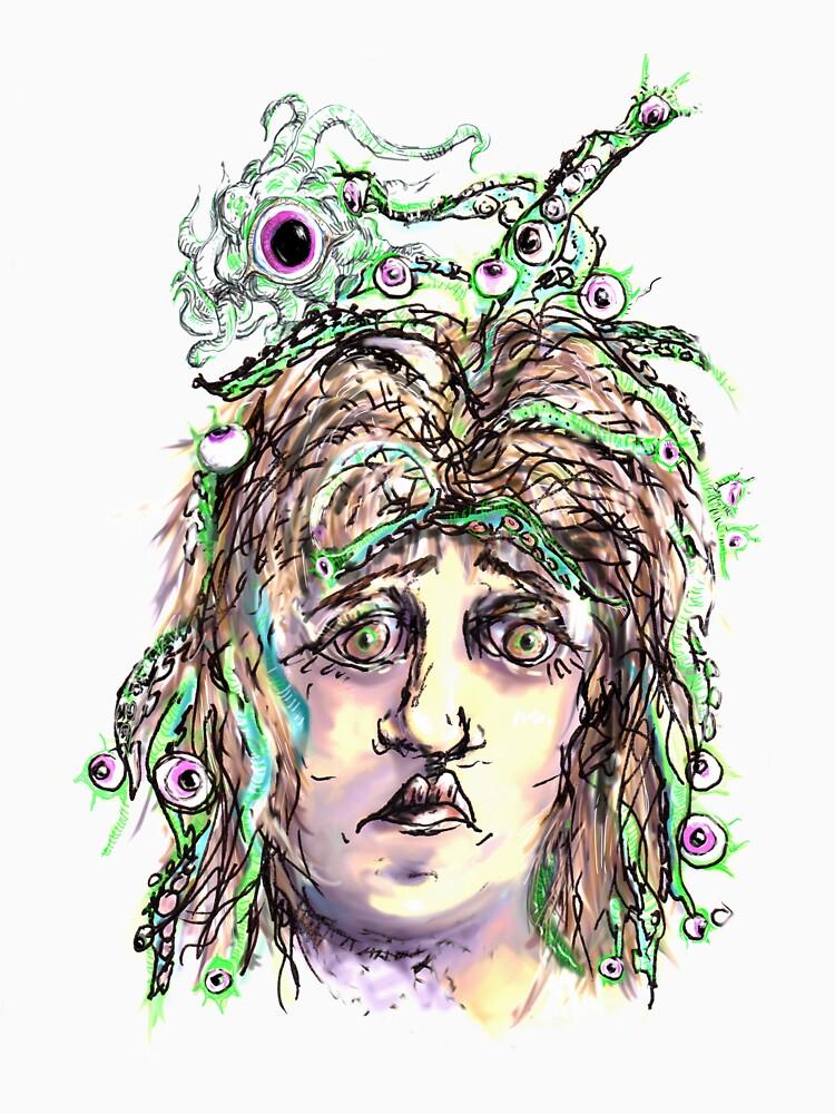 Alien Cephalopod Bad Hair Day by rvalluzzi