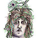 Alien Cephalopod Bad Hair Day by Regina Valluzzi