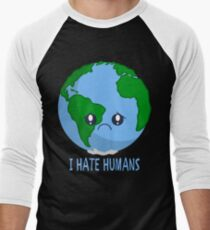 Sad Earth Men's Baseball ¾ T-Shirt