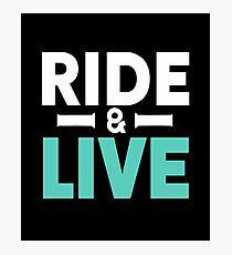Motorcycle Bike Ride & LIve Photographic Print