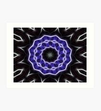 Blue Purple Black kaleidoscope  Art 1 Art Print