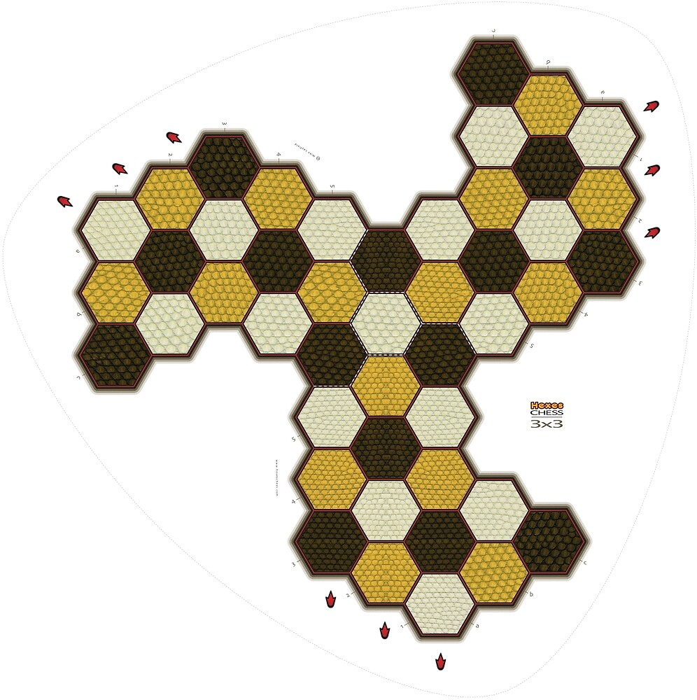 Hexes Chess 3x3 game board by Layfield