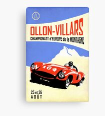 Ollon-Villars Hill Climb Canvas Print