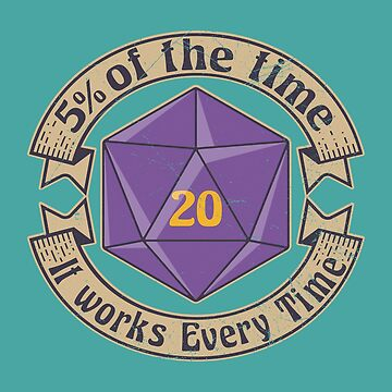 5 Percenter d20 v2 PURPLE  by KennefRiggles
