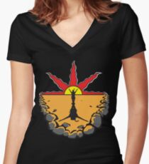 Solaire - Praise the Sun Women's Fitted V-Neck T-Shirt