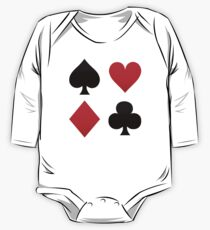 Playing Cards Suits- Spades, Hearts Diamonds, Clubs  One Piece - Long Sleeve