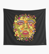 A fragmented face of a human being  Wall Tapestry