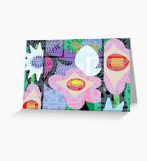 Mexico Floral Pattern Greeting Card