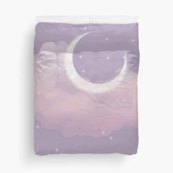 Purple Moon Duvet Cover