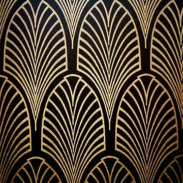 Art nouveau, art deco, fan pattern, bronze,gold,black,chic,elegant,vintage,belle époque, by love999