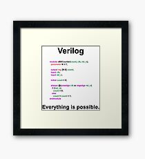 Verilog Everything is possible Framed Print